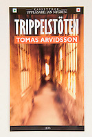 TRIPPELSTOTEN, by Tomas Arvidsson<br /> <br /> Swedish Language Audio Book Cover<br /> Publisher - Iris Forlag, Sweden<br /> <br /> Photo of  Abandoned Corridor at Ellis Island available from Getty Images.  Please search www.gettyimages.com for image # 10133917.
