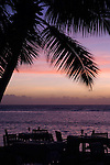 Seychelles, Island La Digue, Anse La Reunion: La Digue Island Lodge - sunset<br />