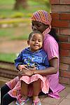 Mothers and children, patients at Kigali District Hospital, Kigali, Rwanda.