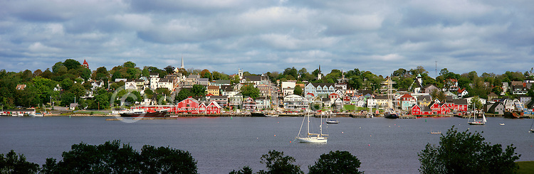 Old Town Lunenburg, a UNESCO World Heritage Site, NS, Nova Scotia, Canada - Lunenburg Harbour / Harbor - Panoramic View