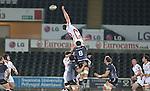 Ulster lock Franco Van Der Merwe misses the line out ball.<br /> Guiness Pro12<br /> Ospreys v Ulster<br /> 20.12.14<br /> ©Steve Pope -SPORTINGWALES
