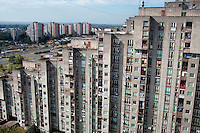 A residential tower block containing 118 Juri Gagarina Street where, Jovan Djogo, former Bosnian Serb general Ratko Mladic's bodyguard, in a court testimony, said that Mladic rented an apartment between 2003 and 2006. Prosecutors believe that General Mladic, one of the most sought after suspects from the Bosnia conflict who has been indicted by the UN war crimes tribunal on charges of genocide and crimes against humanity, was living here for at least two years during that time. In the background, some 8 minutes walk away, are the apartment blocks where former Bosnian Serb politician Radovan Karadzic was living at the time of his arrest for war crimes in 2008. (Mladic's apartment is at bottom right. Karadzic lived in an apartment block just behind the far right block in the background.)..