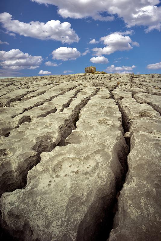 Karst landscape. The Burren, County Clare. Ireland
