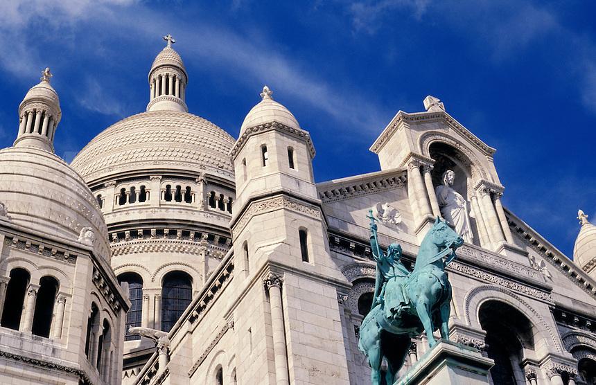 France. Paris. Sacre Coeur Church, detail.
