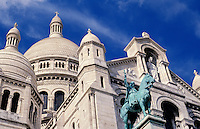 France. Paris. Sacre Coeur Church, detail.