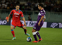 3rd October 2021; Franchi Stadium, Florence, Italy; Serie A football, Fiorentina versus Napoli : Eljif Elmas of Napoli