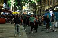 Pictured: People enjoy themselves in Wind Street, Swansea, Wales, UK. Saturday 07 August 2021<br /> Re: Nightclubs have reopened this weekend as most Covid restrictions have come to an end in Wales, UK.<br /> Pubs and restaurants were allowed to open for certain periods, with safety measures in place unlike nightclubs.