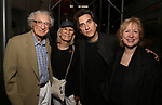 Sheldon Harnick, Margery Harnick and Hershey Felder with wife Kim Campbell attend the Opening Night of 'Hershey Felder As Irving Berlin' on September 5, 2018 at the 59E59 Theatre in New York City.