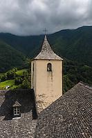 Europe, France, Aquitaine, Pyrénées-Atlantiques, Béarn, Vallée d'Aspe, Aydius: L'église Saint-Martin  // Europe, France, Aquitaine, Pyrenees Atlantiques, Bearn, Aspe valley,  Aydius: the church