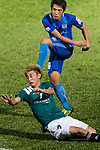 SC Kitchee Midfielder Ka Wai Lam (R) attempts a kick while being defended by Deshuai Xu of Long Lions (L) during the Community Cup match between Kitchee and Eastern Long Lions at Mong Kok Stadium on September 23, 2017 in Hong Kong, China. Photo by Marcio Rodrigo Machado / Power Sport Images