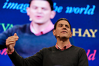 Pictured: Former MP David Miliband in the Tata Tent.<br /> Re: Hay Festival at Hay on Wye, Powys, Wales, UK. Saturday 02 June 2018