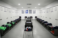 WIENER NEUSTADT, AUSTRIA - MARCH 25: USMNT locker room before a game between Jamaica and USMNT at Stadion Wiener Neustadt on March 25, 2021 in Wiener Neustadt, Austria.