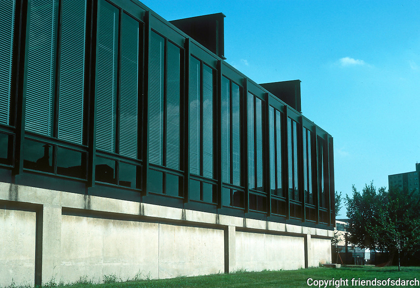 Mies van der Rohe: Illinois Institute of Technology (ITT) , Chicago.  Photo '76.