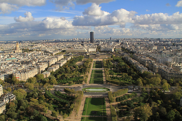 View to the Montparnasse Building from the Eiffel Tower, Paris, France, .  John offers private photo tours in Denver, Boulder and throughout Colorado, USA.  Year-round. .  John offers private photo tours in Denver, Boulder and throughout Colorado. Year-round.