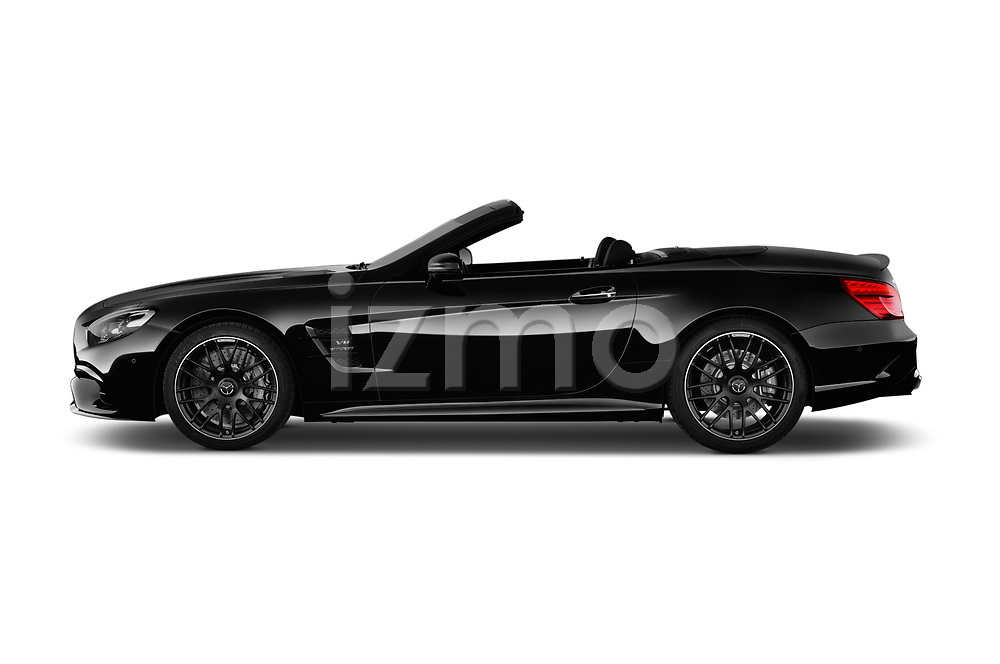 Car Driver side profile view of a 2017 Mercedes Benz SL-Class AMG-63 2 Door Convertible Side View