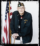 Veteran Andy Peacock poses for a photo at a Veterans Day Program at the Oxford Conference Center in Oxford, Miss. on Thursday, November 11, 2010.