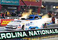 Oct 11, 2019; Concord, NC, USA; NHRA funny car driver John Force during qualifying for the Carolina Nationals at zMax Dragway. Mandatory Credit: Mark J. Rebilas-USA TODAY Sports
