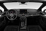 Stock photo of straight dashboard view of 2021 Audi A5-Cabriolet Avus 2 Door Convertible Dashboard