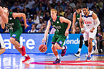 Real Madrid's player Gustavo Ayon and Unicaja Malaga's player Alberto Diaz during match of Liga Endesa at Barclaycard Center in Madrid. September 30, Spain. 2016. (ALTERPHOTOS/BorjaB.Hojas)