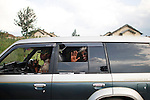 © Remi OCHLIK/IP3, Rutshuru , Republique Democratique du Congo, le 22 novembre 2008 - Conference de presse du chef du CNDP, la rebellion hostile au pouvoir central, En presence de Laurent Nkunda le chef charismatique...Rebellion (CNDP) chief, Laurent Nkunda, delivers a speach during a press conference in Rutshuru