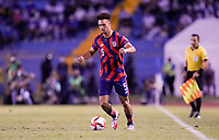 SAN PEDRO SULA, HONDURAS - SEPTEMBER 8: Antonee Robinson #5 of the United States dribbles with the ball during a game between Honduras and USMNT at Estadio Olímpico Metropolitano on September 8, 2021 in San Pedro Sula, Honduras.