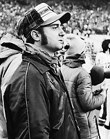 Bob O'bilovich coach Ottawa Rough Riders 1977. Copyright photograph Scott Grant