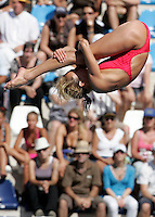 France's Audrey Labeau competes in the women's 10m platform diving finals at the Swimming World Championships in Rome, 18 July 2009..UPDATE IMAGES PRESS/Riccardo De Luca