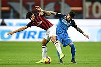 Diego Farias of Empoli , Lucas Paqueta of AC Milan <br /> Milano 22-02-2019 Stadio Giuseppe Meazza in an Siro Football Serie A 2018/2019 AC Milan - Empoli <br /> Foto Image Sport / Insidefoto