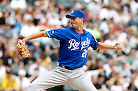 Kansas City Royals starting pitcher Jeff Francis #26 during a game against the Chicago White Sox at U.S. Cellular Field on August 14, 2011 in Chicago, Illinois.  Chicago defeated Kansas City 6-2.  (Mike Janes/Four Seam Images)