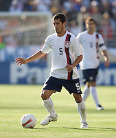 Benny Feilhaber holds the ball. The USA defeated China, 4-1, in an international friendly at Spartan Stadium, San Jose, CA on June 2, 2007.