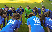 Genk players pictured during the huddle before a female soccer game between Eendracht Aalst and Racing Genk on the fifth matchday of the 2020 - 2021 season of Belgian Scooore Womens Super League , Saturday 28 th of November 2020  in Aalst , Belgium . PHOTO SPORTPIX.BE | SPP | SEVIL OKTEM