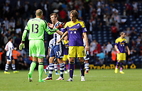 Pictured: (L-R) Boaz Myhill, Michu.<br /> Sunday 01 September 2013<br /> Re: Barclay's Premier League, West Bromwich Albion v Swansea City FC at The Hawthorns, Birmingham, UK.