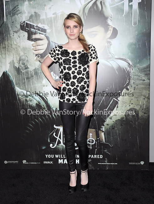 Emma Roberts at The Warner Bros. Pictures World Premiere of Sucker Punch held at The Grauman's Chinese Theatre in Hollywood, California on March 23,2011                                                                               © 2010 Hollywood Press Agency