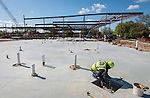 Construction work at Mickey Leland College Preparatory Academy, March 22, 2016.