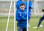 St Johnstone Training…25.10.19<br />Danny Swanson pictured during training this morning at McDiarmid Park ahead of tomorrows game against Hamilton Accies.<br />Picture by Graeme Hart.<br />Copyright Perthshire Picture Agency<br />Tel: 01738 623350  Mobile: 07990 594431