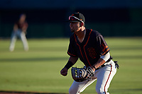 AZL Giants Black first baseman Carter Aldrete (7) during an Arizona League game against the AZL Angels at the Giants Baseball Complex on June 21, 2019 in Scottsdale, Arizona. AZL Angels defeated AZL Giants Black 6-3. (Zachary Lucy/Four Seam Images)