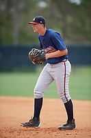 Atlanta Braves Griffin Benson (11) during a minor league Spring Training game against the Detroit Tigers on March 25, 2017 at ESPN Wide World of Sports Complex in Orlando, Florida.  (Mike Janes/Four Seam Images)