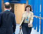 © Joel Goodman - 07973 332324 . 04/10/2016 . Birmingham , UK . NICKY MORGAN crosses from the hotel to the conference centre on the third day of the Conservative Party Conference at the International Convention Centre in Birmingham . Photo credit : Joel Goodman