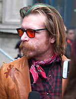 November 13 2017, PARIS FRANCE<br /> the President of France Emmanuel Macron<br /> honors the victims of the 13 november 2015<br /> in the scenes of attacks. Jesse Hughes gives an interview. # HOMMAGE AUX VICTIMES DES ATTENTATS DU 13 NOVEMBRE 2015