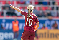 HARRISON, NJ - MARCH 08: Jordan Nobbs #10 of England yells to a teammate during a game between England and Japan at Red Bull Arena on March 08, 2020 in Harrison, New Jersey.