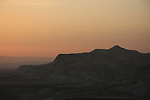 Israel, Northern Negev Mountain. A view of Zin valley from Sde Boker at sunrise