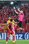 Shanghai FC Goalkeeper Yan Junling (R4) in action during the AFC Champions League 2017 Round of 16 match between Shanghai SIPG FC (CHN) vs Jiangsu FC (CHN) at the Shanghai Stadium on 24 May 2017 in Shanghai, China. Photo by Marcio Rodrigo Machado / Power Sport Images