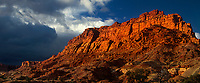 908000005 panoramic clearing storm light dapples the sandstone formations of the waterpocket fold in capitol reef national park in utah