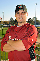 Feb 25, 2010; Kissimmee, FL, USA; The Houston Astros catcher Kevin Cash (36) during photoday at Osceola County Stadium. Mandatory Credit: Tomasso De Rosa/ Four Seam Images