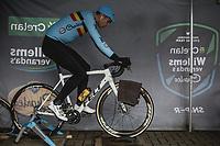 Wout Van Aert (BEL/Crelan Charles) pre race warming up.<br /> <br /> Men Elite Race<br /> UCI CX Worlds 2018<br /> Valkenburg - The Netherlands
