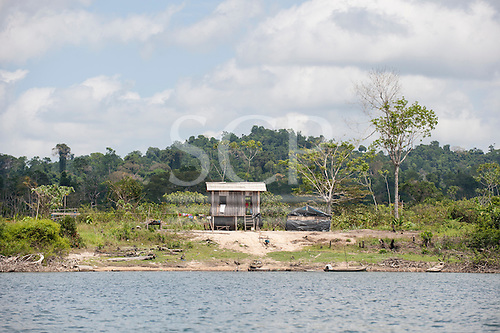 Xingu River, Para State, Brazil. Fishermans home.
