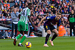 Ivan Rakitic of FC Barcelona (R) in action during the La Liga 2018-19 match between FC Barcelona and Real Betis at Camp Nou, on November 11 2018 in Barcelona, Spain. Photo by Vicens Gimenez / Power Sport Images