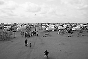 An overview of the Dagahaley refugee camp in the Dadaab refugee camp in northeastern Kenya. Hundreds of thousands of refugees are fleeing lands in Somalia due to severe drought and arriving in what has become the world's largest refugee camp. Photo: Sanjit Das/Panos