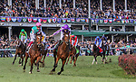 November 3, 2018: Enable #2, ridden by Frankie Dettori, wins the Longines Breeders' Cup Turf on Breeders' Cup World Championship Saturday at Churchill Downs on November 3, 2018 in Louisville, Kentucky. Mary Meek/Eclipse Sportswire/CSM