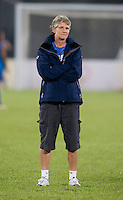 Pia Sundhage. The USWNT defeated Brazil, 1-0, to win the gold medal during the 2008 Beijing Olympics at Workers' Stadium in Beijing, China.